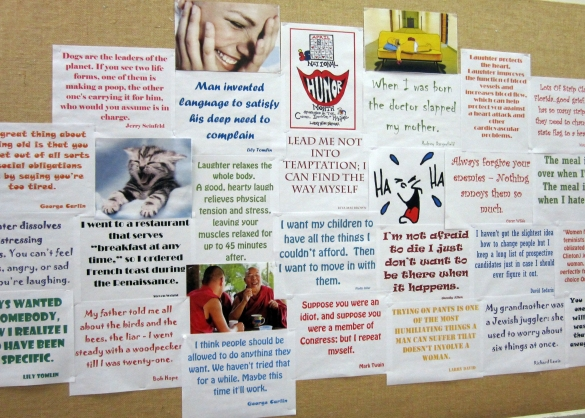 National Humor Month Bulletin Board
